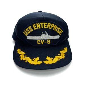 Eagle Crest USS Enterprise CV-6 Navy Military Hat